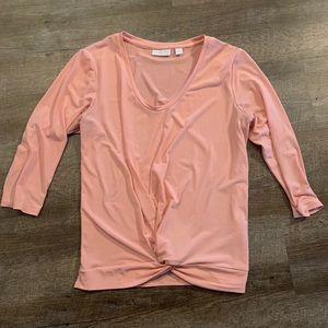 Peach 3/4 Sleeve Blouse